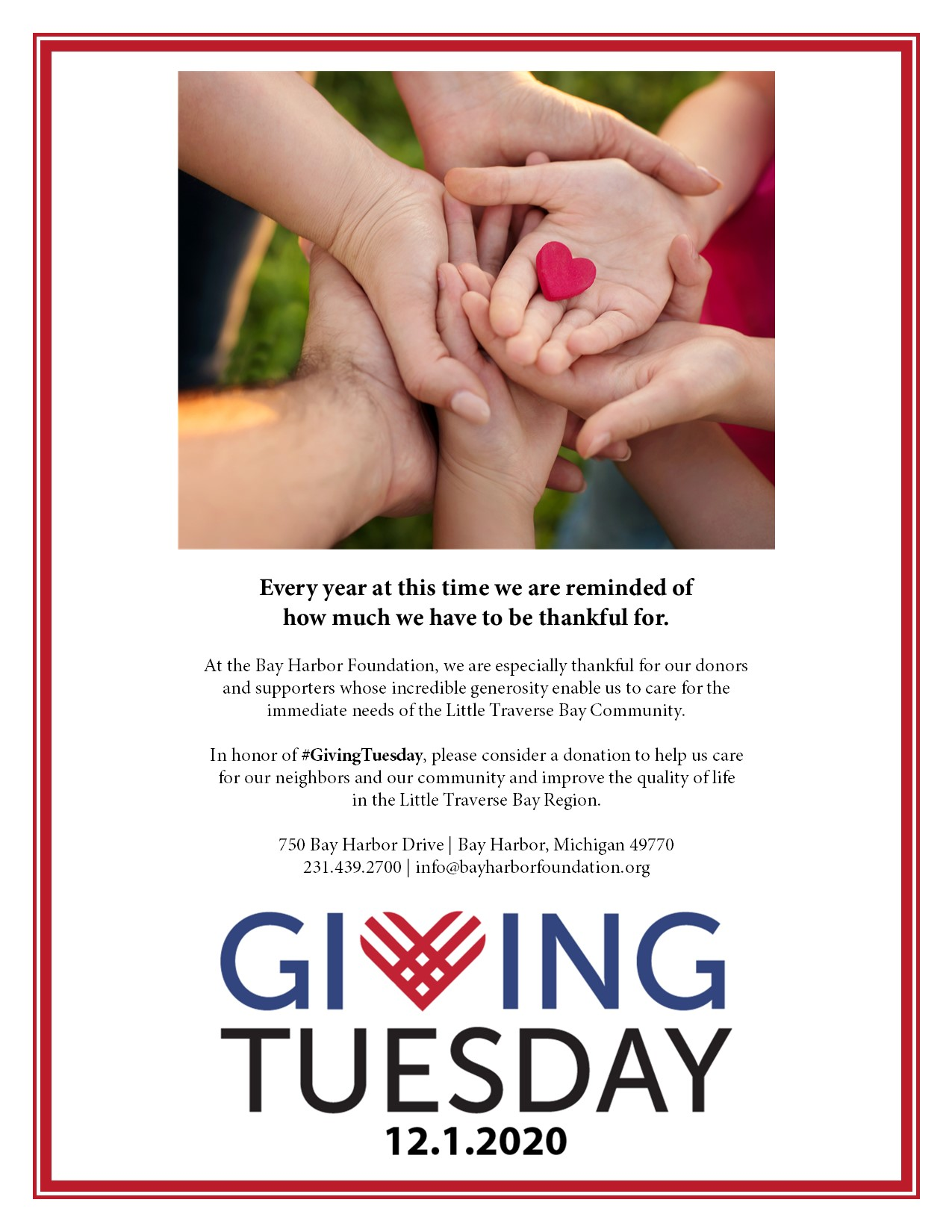 2020 Giving Tuesday Flyer